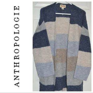 NWT Anthropologie Pepin Striped Cardigan Medium